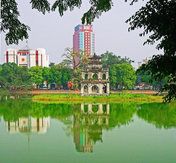 Thap Rua, Tortoise Tower, Hoan Kiem Lake, Hanoi