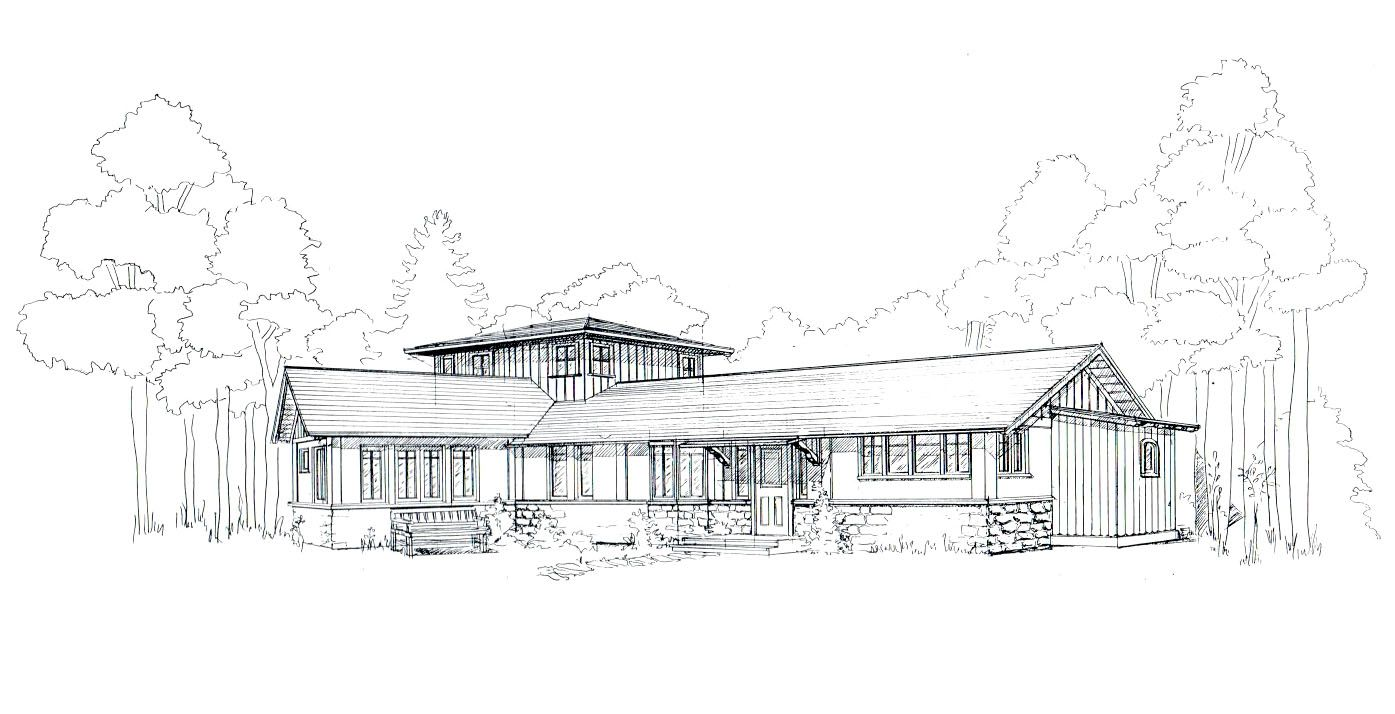 House on the meadow exterior rendering