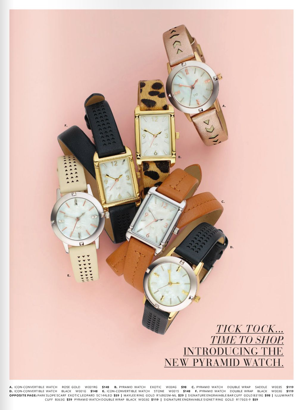 Watches, jewelry styling,