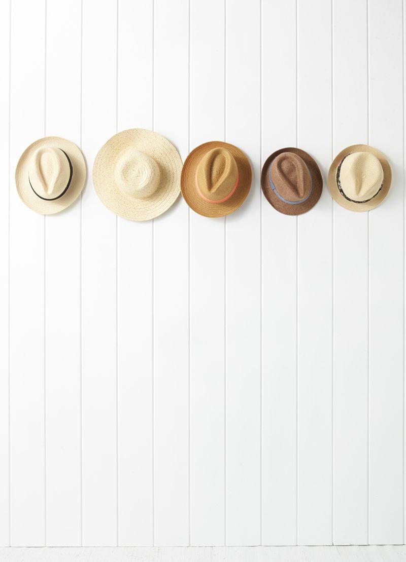 hats, still life styling,