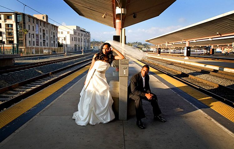 union station Los Angeles Wedding photo by Issa Sharp