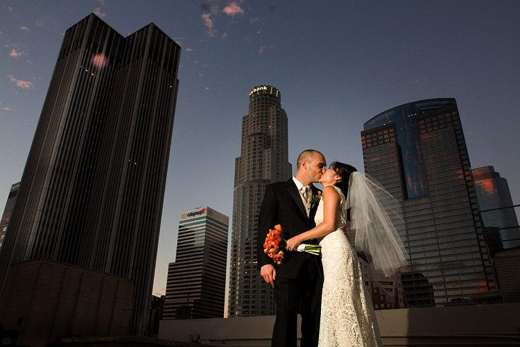 Downtown Los Angeles wedding at the Oviatt Penthouse photo Issa Sharp