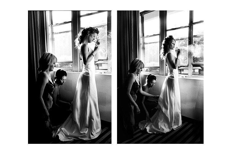 Sunset Hyatt wedding photo