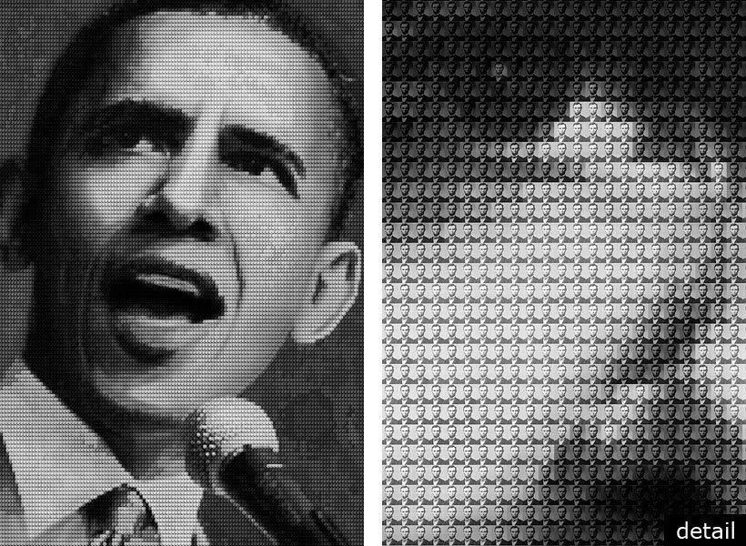 """OBAMA vs LINCOLN, 2009 - 60""""x40"""" & 108""""x72"""""""