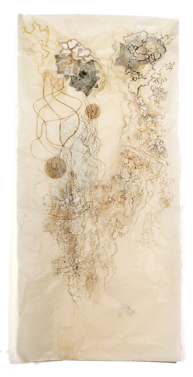 """Emerging Cartographies # 2, 80""""x36"""""""