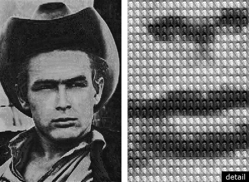 "JAMESDEAN vs ELVIS 2009 - 60""x40"" & 108""x72"""