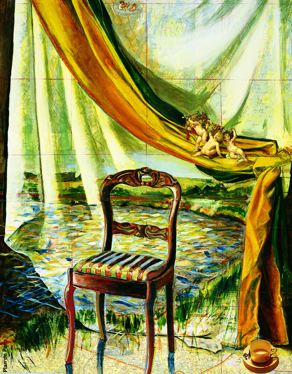 """""""Chair, Cup and Angels,"""" 1999"""