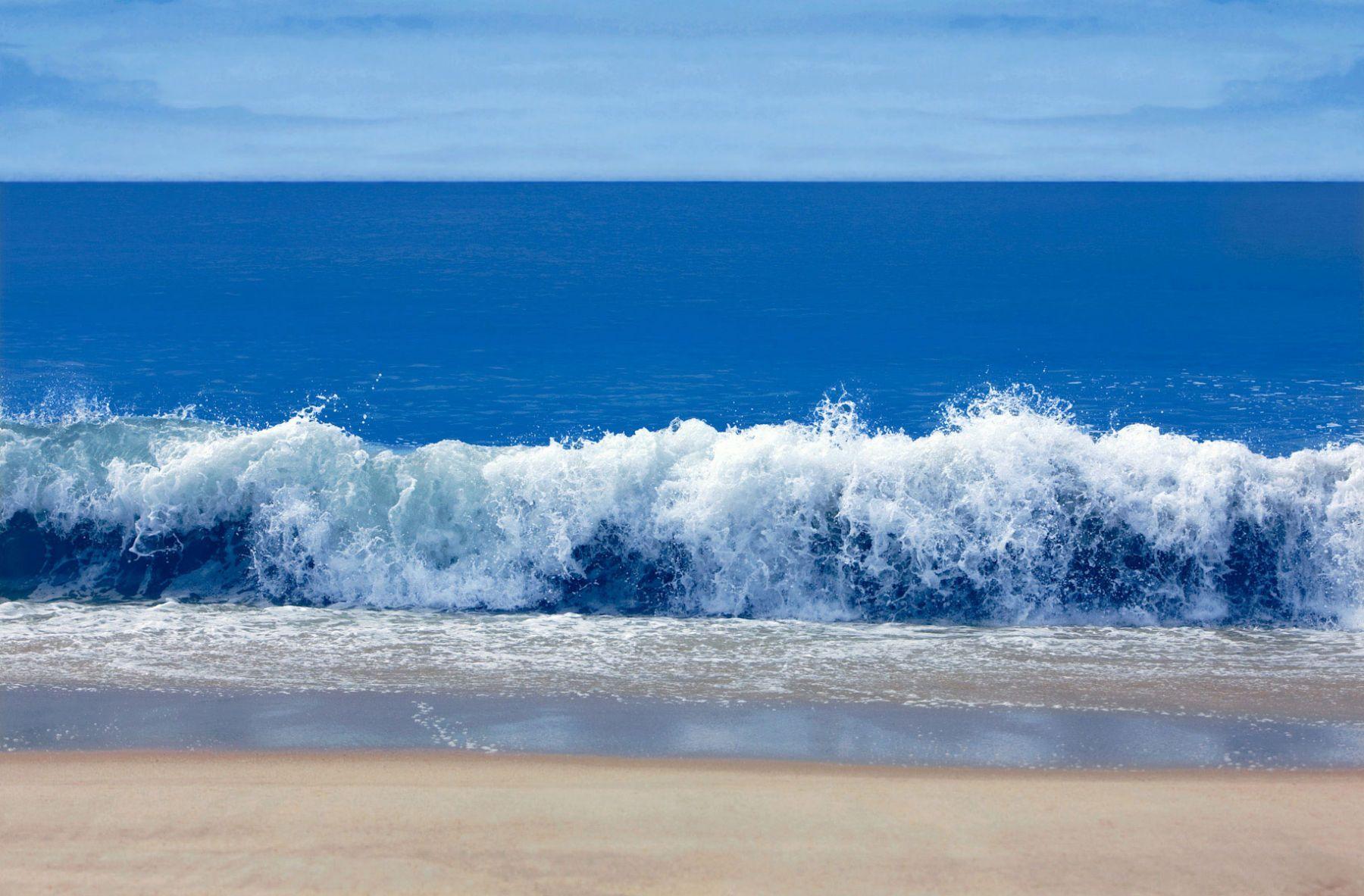 Crashing Waves with Sand