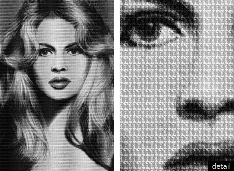 "BRIGITTEBARDOT vs CATHERINE DENEUVE, AFTER AVEDON, 2010 - 60""x40"" & 108""x72"""