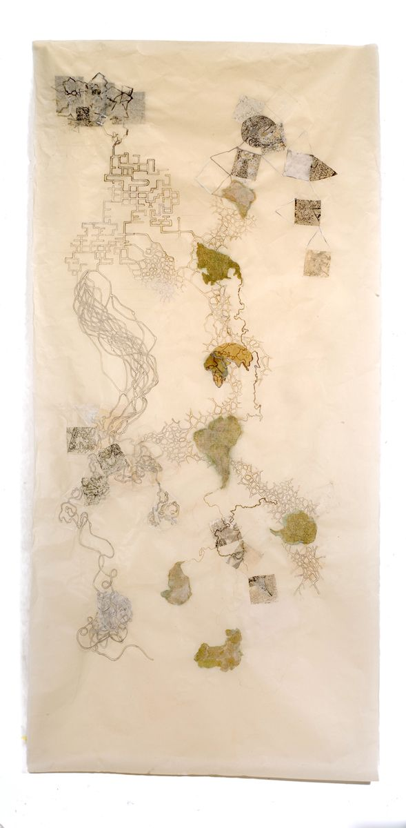 """Emerging Cartographies # 1, 80""""x36'"""