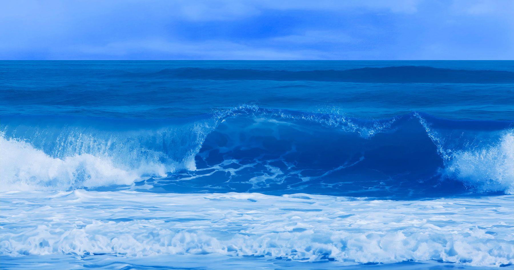 Emerald Wave in Blue
