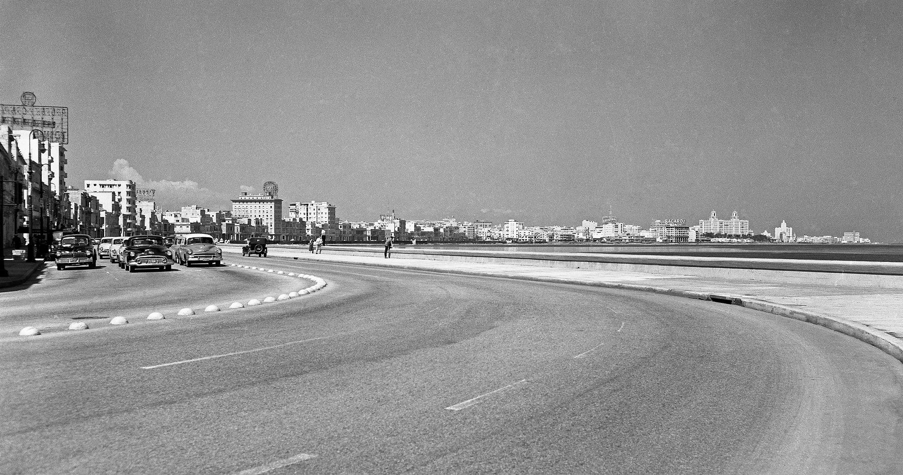 Citywide view from El Malecon 1953
