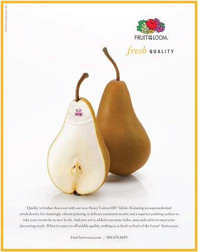 fruit of the loom advertising pear kiyoshi togashi