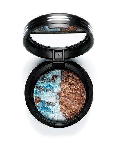 turquoise copper eyeshadow compact