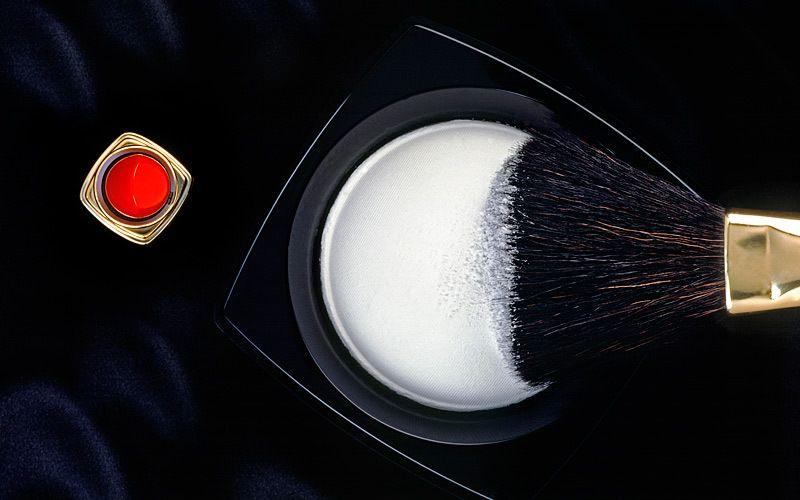 white powder and brush