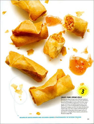 Cooking Light Magazine The Art of Crunchy food spring rolls kiyoshit togashi
