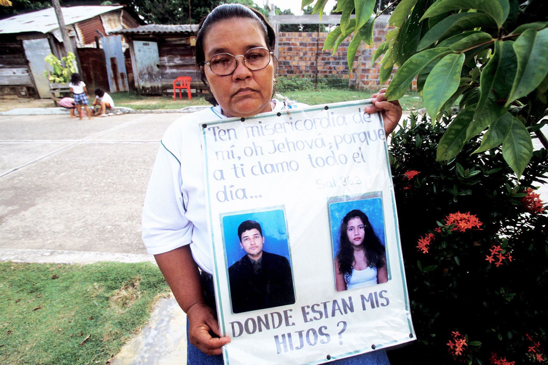 A mother, who's daughter and son has been missing.