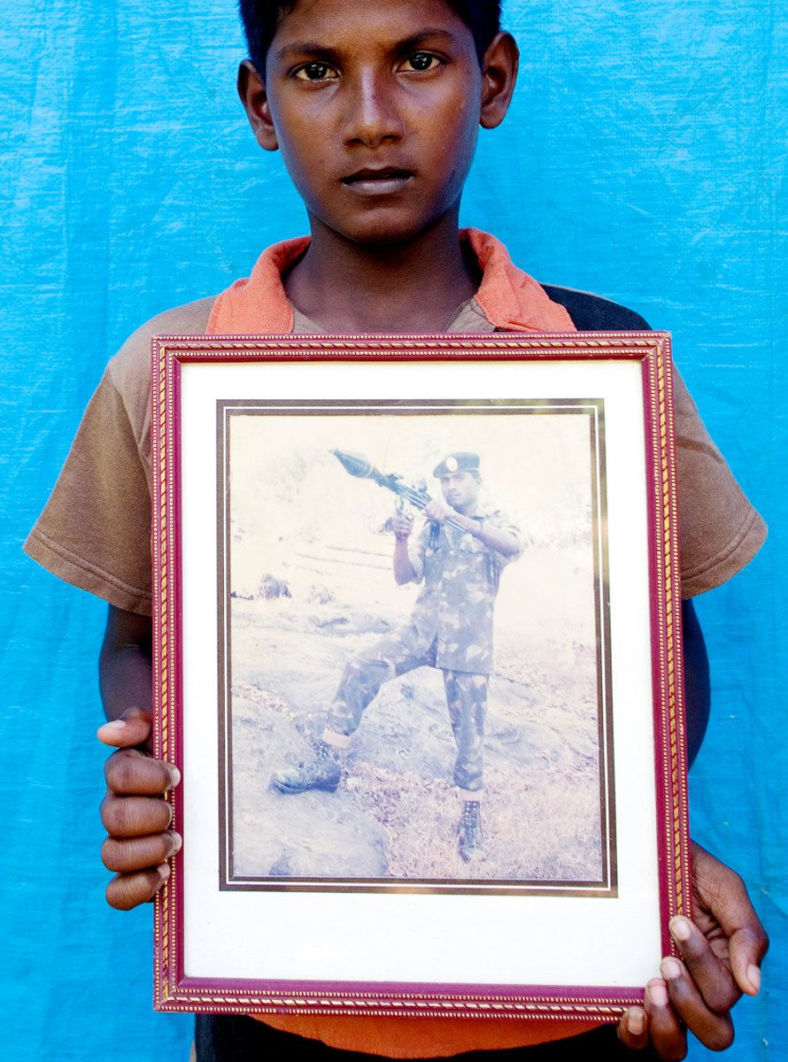 """This is my father. He was a Sri Lanka Army soldier. He loved us so much. I miss him."""