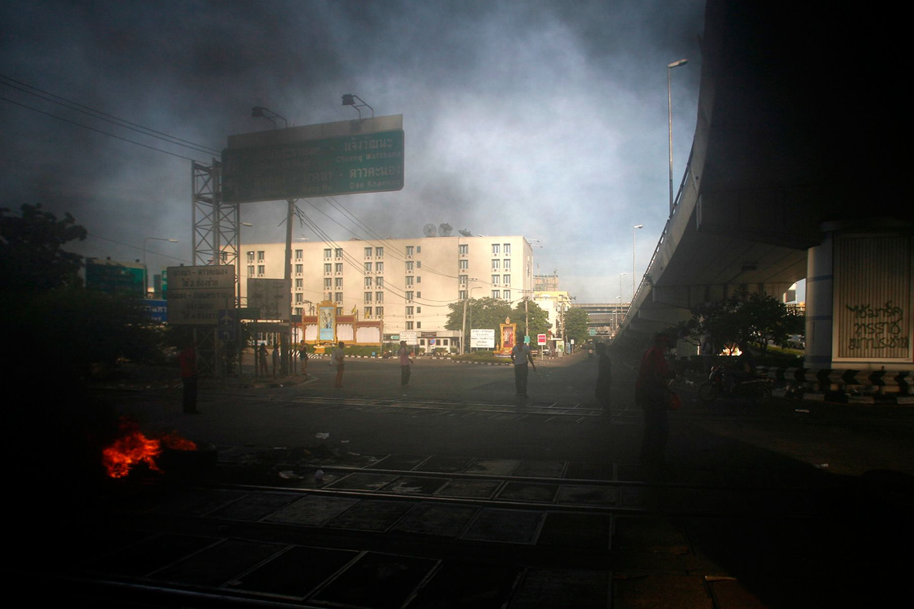 A scene at central in Bangkok.April 2009