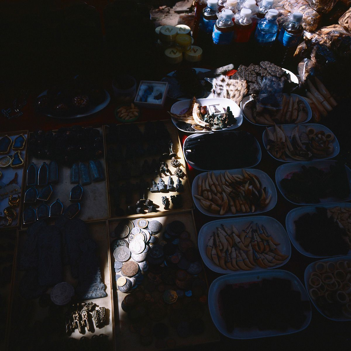 Amulets in a market.