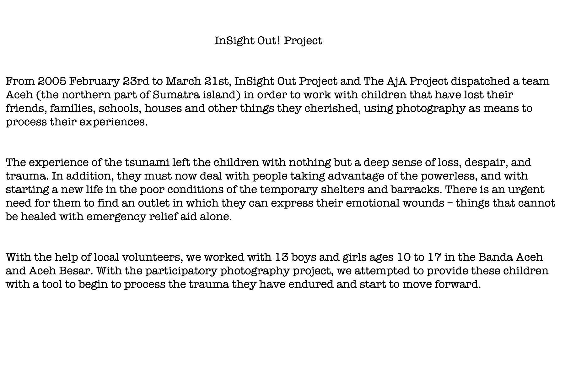 About InSight Out ! Project