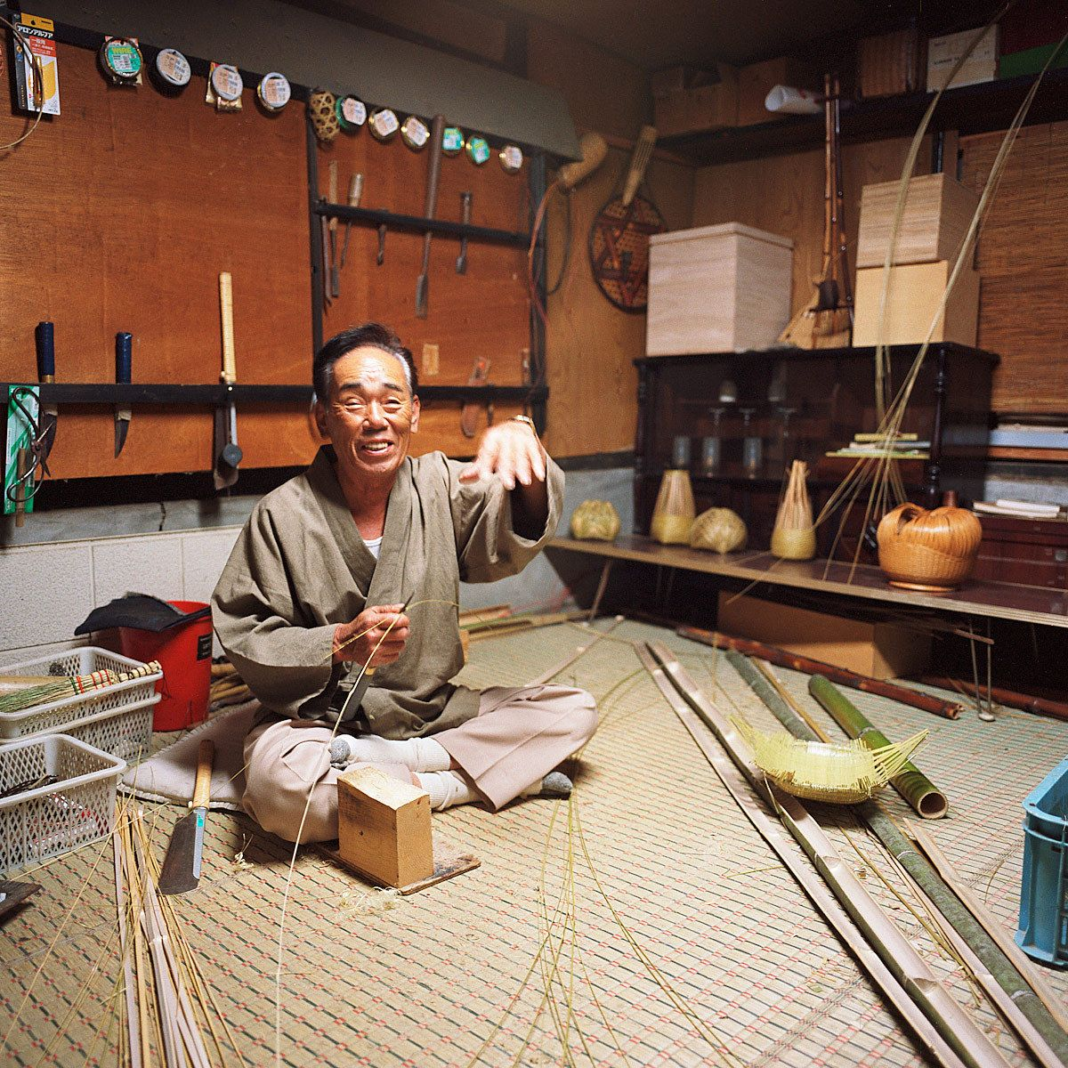 Keigen Ishida. Bamboo Artist.