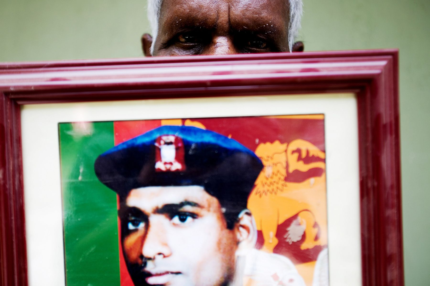 """My son was a Sri Lanka Army soldier. He died while fighting with the LTTE in the North. He was just twenty-two years old. They couldn't find my son's body, so I still hope that he is still alive somewhere in this country."""