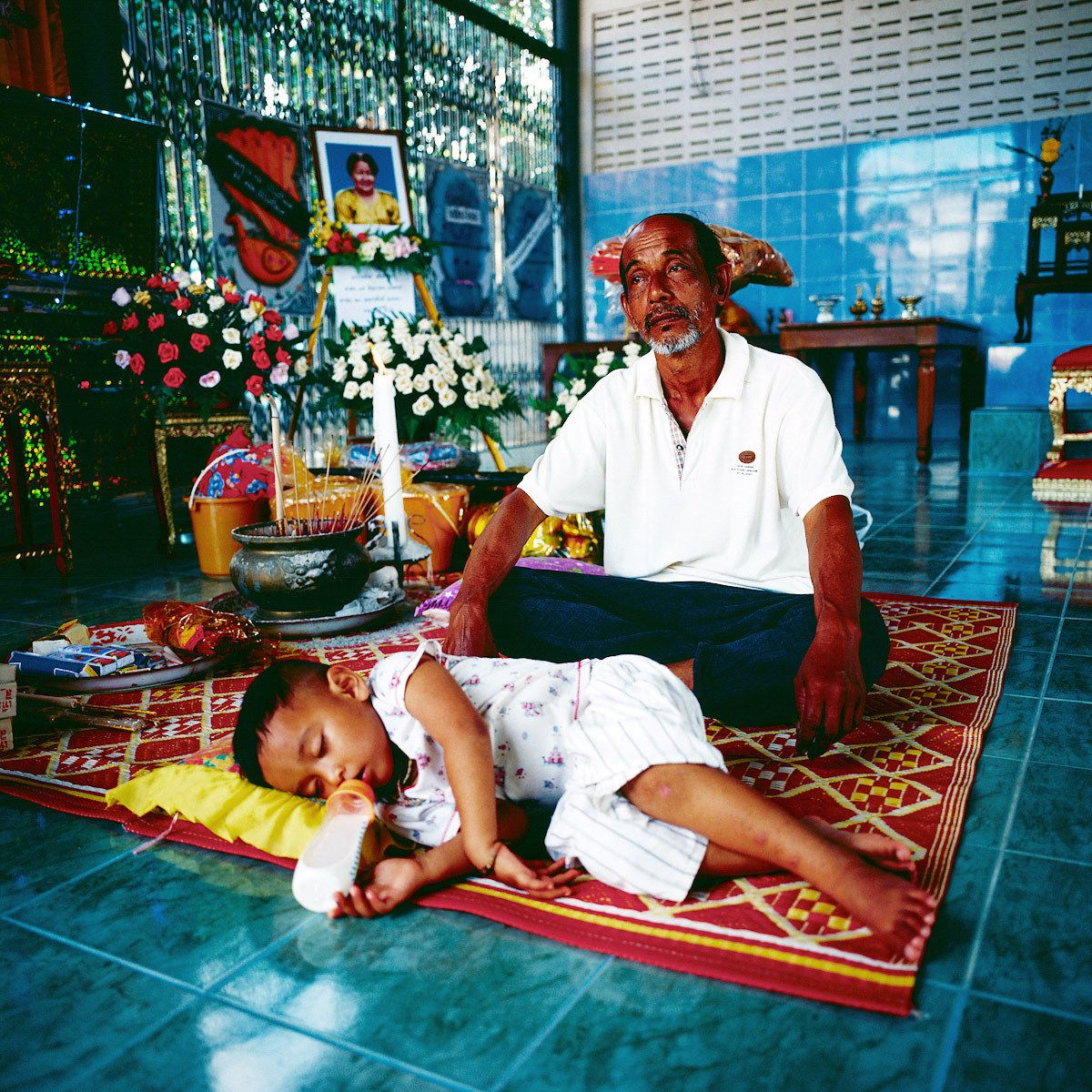 Lost grand motherJirasak, age 2 and half.