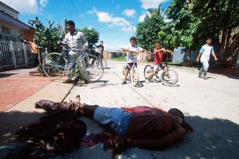 An execution. Barrancabermeja, Colombia, 2001