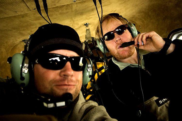 Somewhere in Alaska in a floatplane