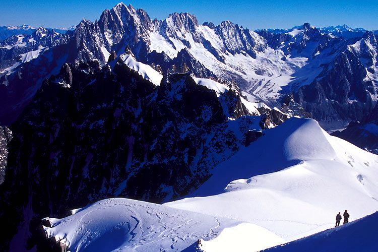 Mountaineers, Aiguille du Midi - France