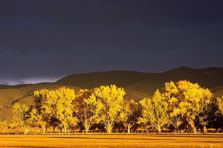 Fireset in Taos, New Mexico