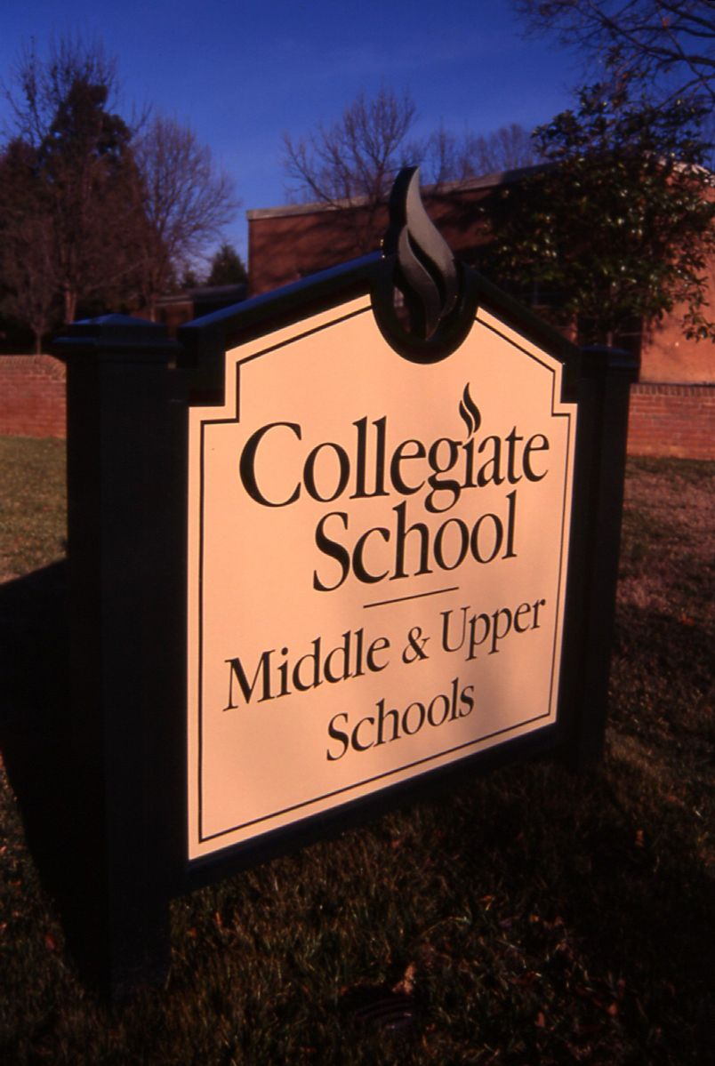 Collegiate School Signage | Richmond VA