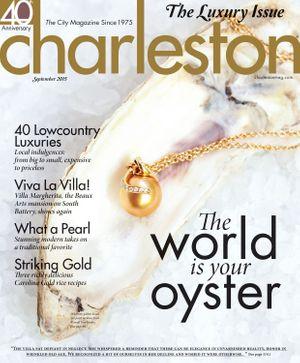 Cover of Charleston Magazine September 2015