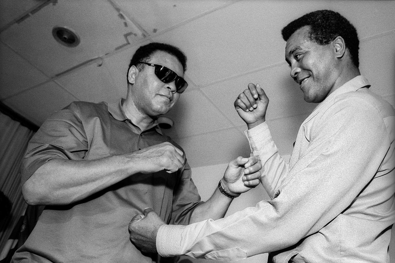 Muhammad Ali and Teofilo Stevenson, Havana, Cuba - 1996