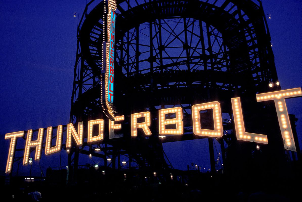 The Thunderbolt rollercoaster, c. 1978