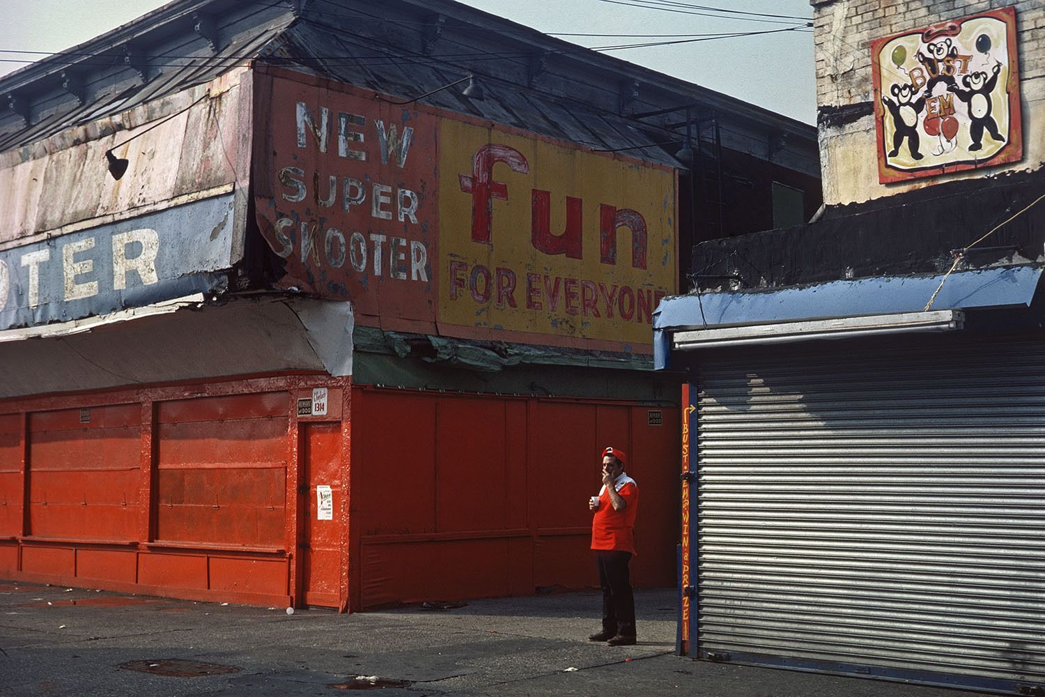 Nathan's worker on a break   c.1977