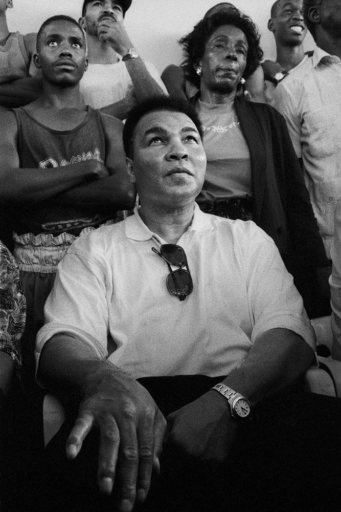 Muhammad Ali watches young boxers in Havana, Cuba - 1996