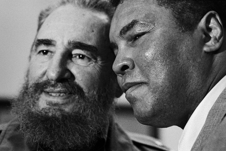Fidel Castro with Muhammad Ali - Havana Cuba, 1996