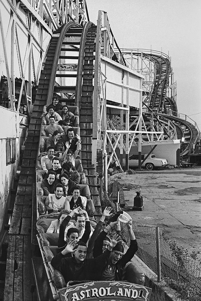 The Cyclone, Coney Island's landmarked roller coaster  c.1986