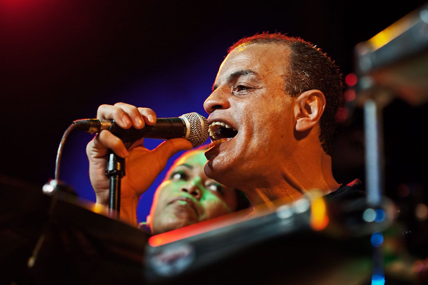 Frankie Vazquez, singer with the Mambo Legends