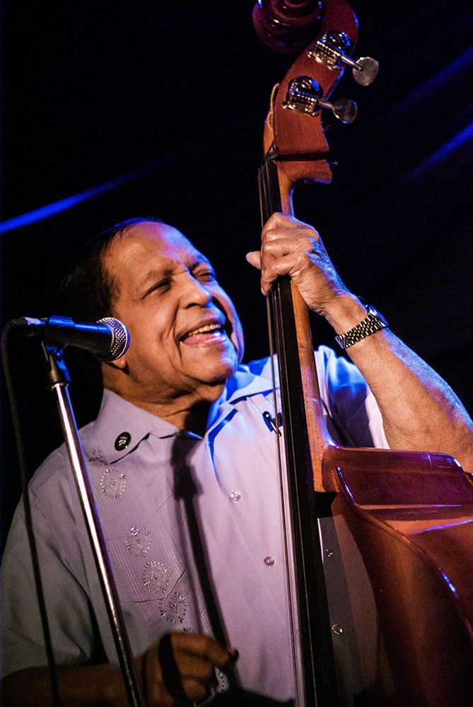 "Bassist and composer Israel ""Cachao"" López at the Blue Note, NYC"