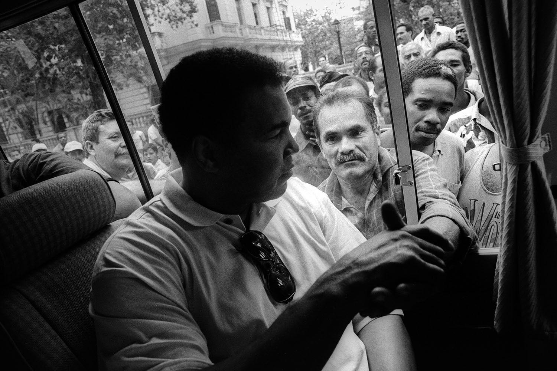 Muhammad Ali greets fans in Havana, Cuba - 1996