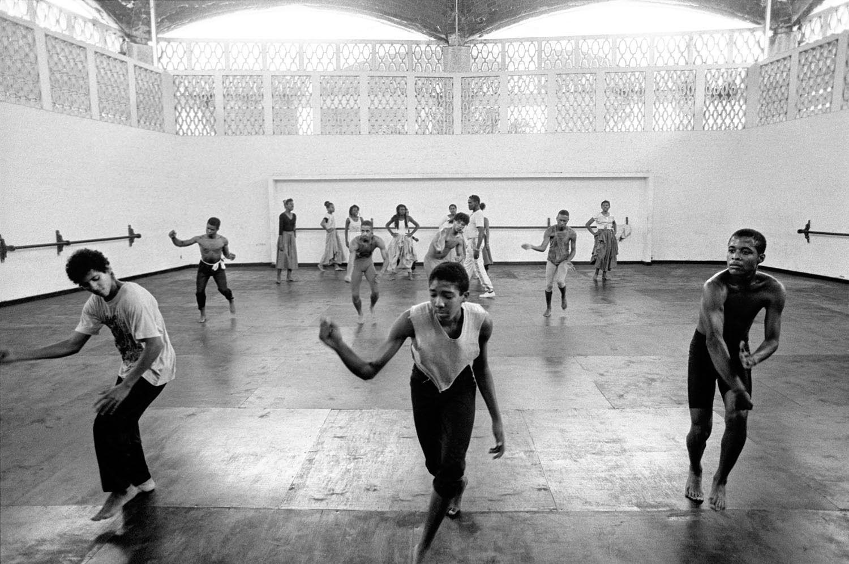 Afro-Cuban dance class at Ricardo Porro's School of Modern Dance
