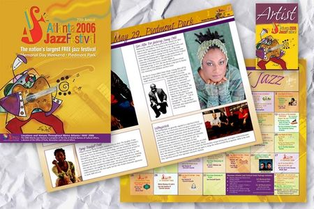 Atlanta Jazz Festival Program and Badges