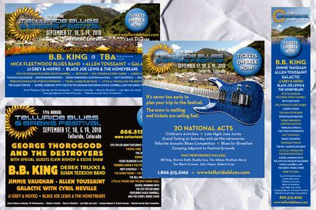 Telluride Blues & Brews 2010 ad campaign