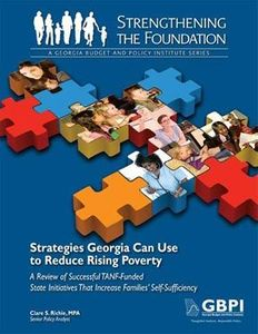 GBPI TANF Report on Poverty in Georgia, 2009, cover