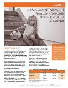 GBPI TANF Report on Poverty in Georgia, 2009, inside layout