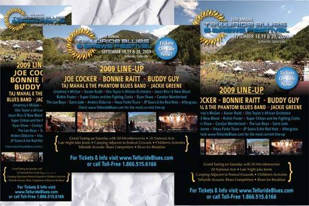 Telluride Blues & Brews Festival Ad Support