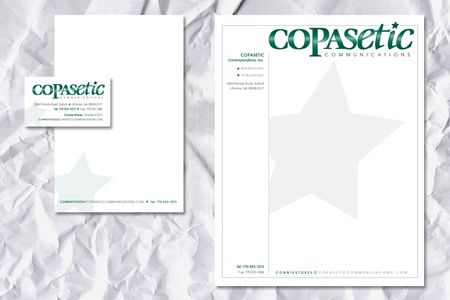 Copasetic Communications Logo and Letterhead
